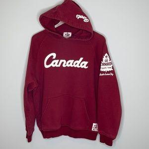 Roots burgundy 2002 Team Canada Olympic hoodie M